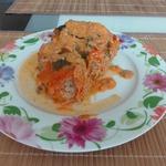 Тушеный фаршированный перец в духовке