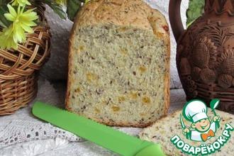 Рецепт: Хлеб с сыром и семенами льна