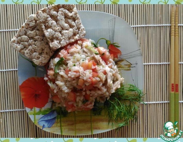 Рецепт: Теплый салат с рисом