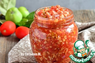 Рецепт: Сальса томатная с яблоками
