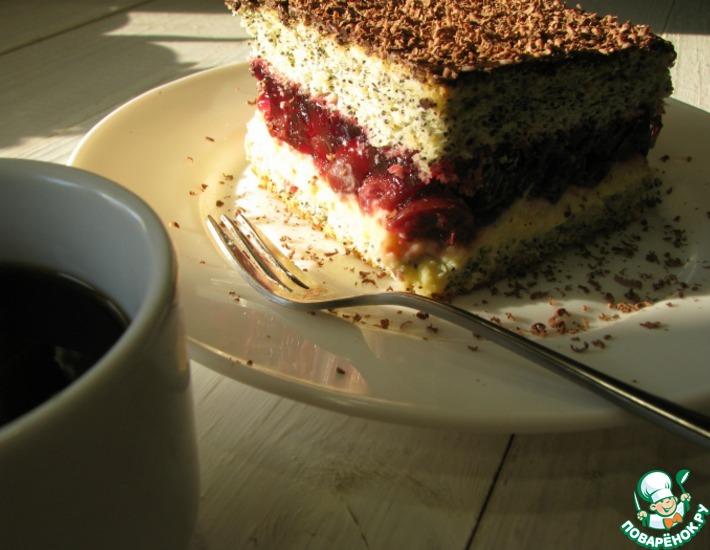 Рецепт: Торт Вишневая фантазия