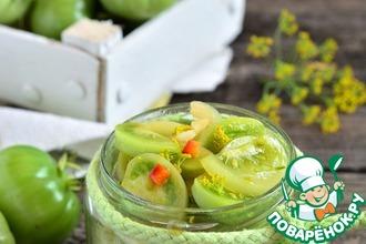 Рецепт: Зеленые помидоры Закусочные