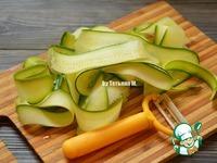 Кабачок, маринованный слайсами ингредиенты