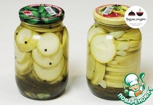 Marinated zucchini without sterilization