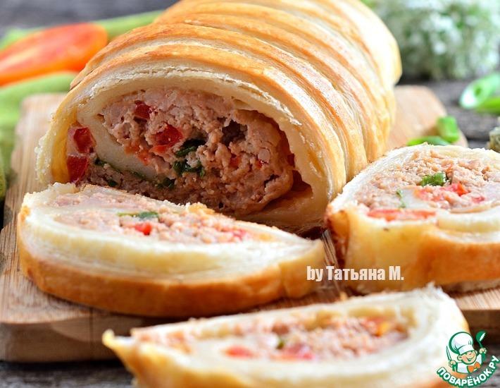 Рецепт: Закусочный рулет с мясом