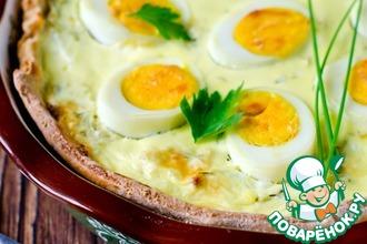 Рецепт: Киш с капустой и яйцами