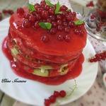 Пшенные панкейки с ягодным соусом