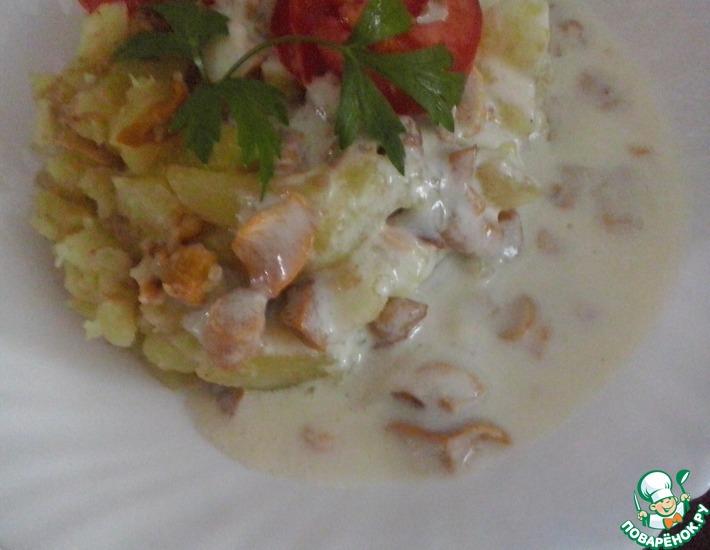 Рецепт: Жареная картошка с лисичками