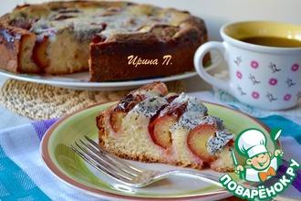 Рецепт: Сливовый пирог с заливкой Маковка