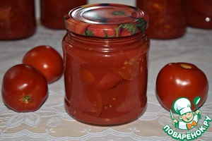 Tomatoes in own juice,