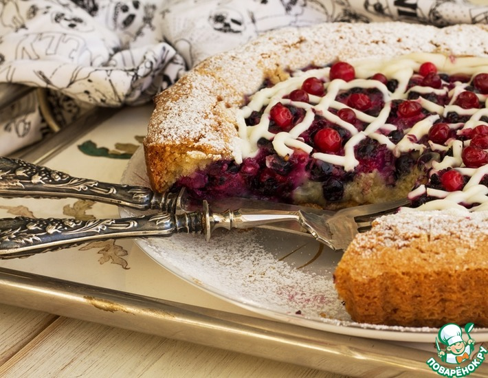 Рецепт: Шведский пирог с лесными ягодами