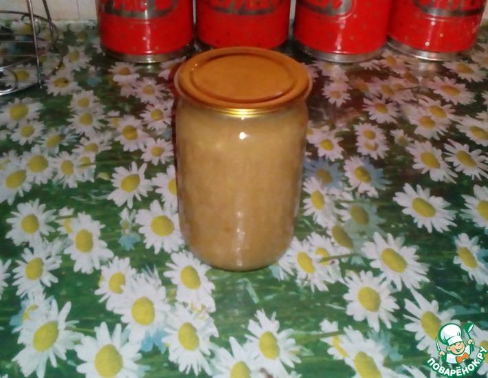 Рецепт: Яблочное пюре на зиму