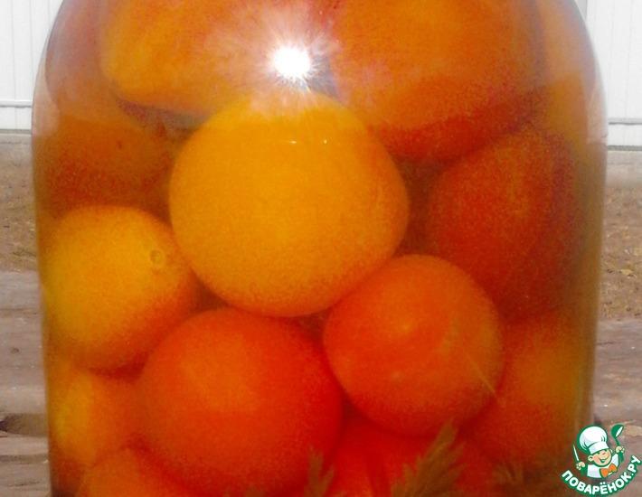 Рецепт: Помидоры с морковной ботвой Почемучки