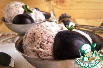 Рецепт: Мороженое йогуртно-сливовое