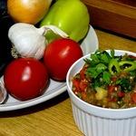 Экспресс-салат из запеченных овощей