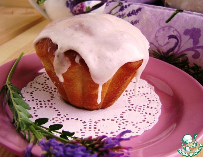 Рецепт: Булочки с лавандовой глазурью Аромат Прованса
