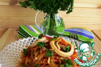 Рецепт: Острый салат с кальмарами