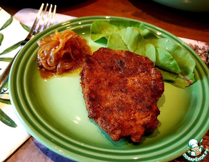 Рецепт: Серштекс и натуральная котлета из печени