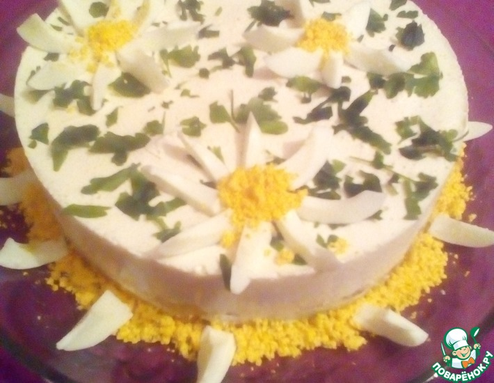 Рецепт: Сливочно-закусочный торт Летний холодок