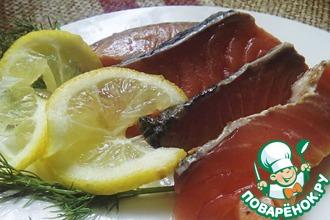 Рецепт: Красная рыба, маринованная дымом Морские радости