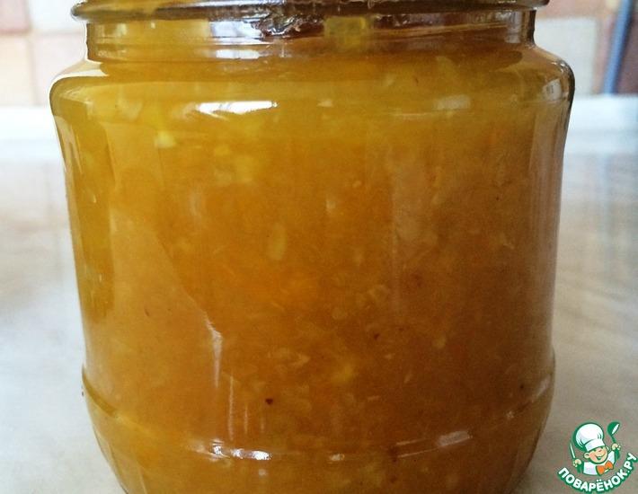 Рецепт: Джем из кабачков Персиковый
