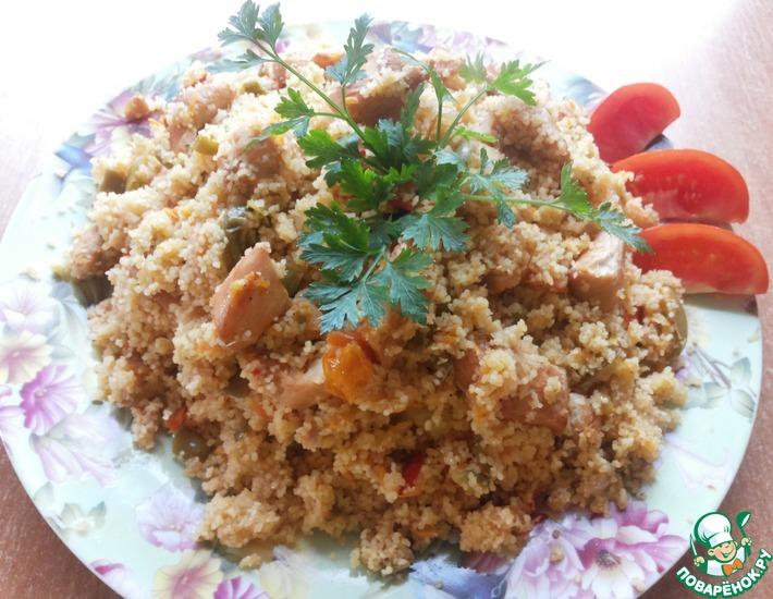 Рецепт: Кускус с овощами и курицей