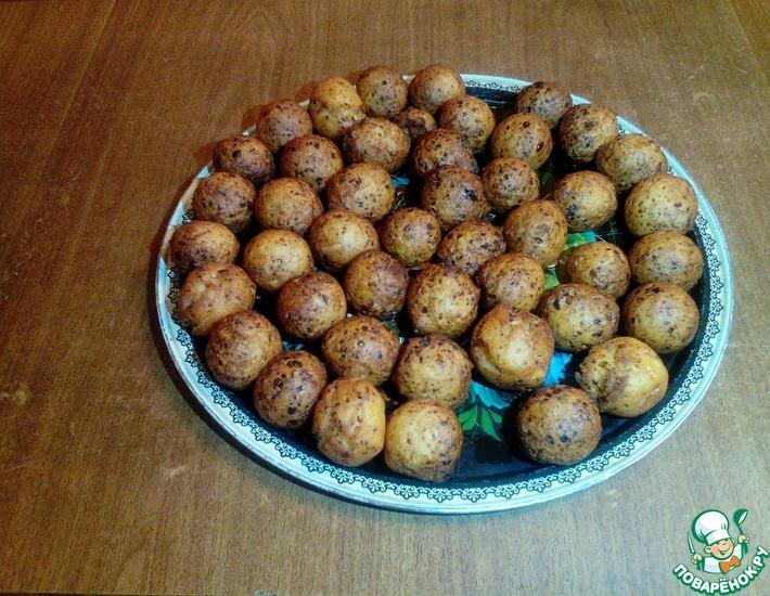 Рецепт: Творожные пончики из детства