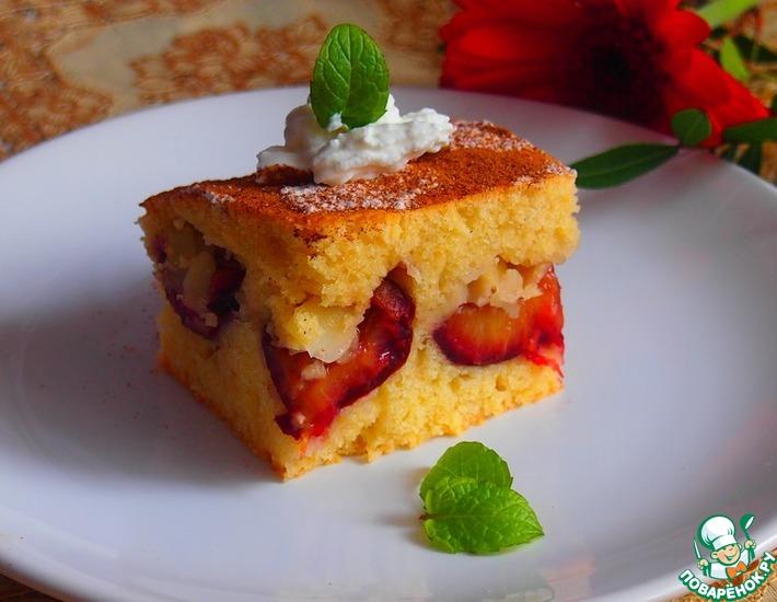 Рецепт: Сливовый пирог с бадьяном