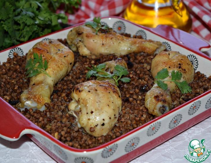 Рецепт: Курица с гречкой Мечта хозяйки