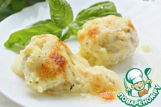 Рецепт: Творожно-куриные шарики под кабачковым соусом