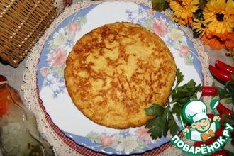 Рецепт: Омлет с хлебом и сыром