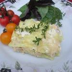 Белая лазанья с курицей и тимьяном