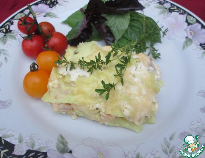 Рецепт: Белая лазанья с курицей и тимьяном