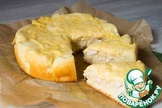 Рецепт: Пирог с куриной грудкой Для Светланки