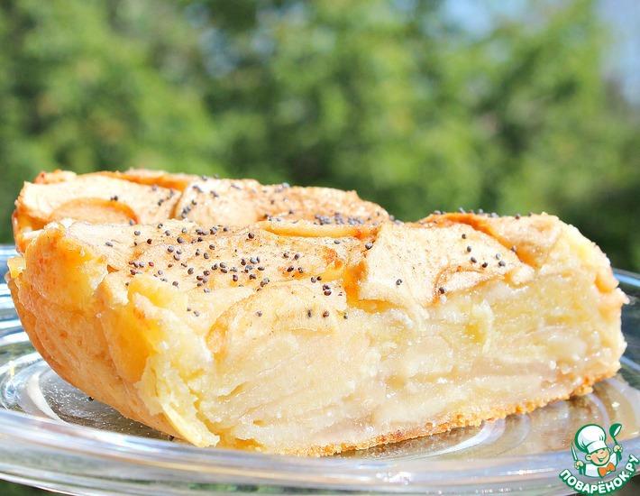 Рецепт: Яблочно-творожный пирог Оборванец