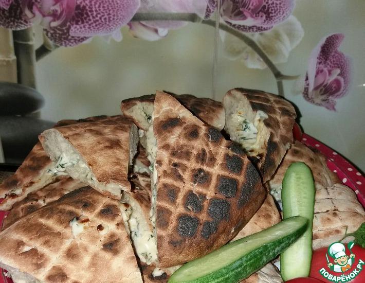 Рецепт: Лаваш грузинский на мангале с сыром