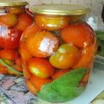 Заготовка консервированных помидоров на зиму