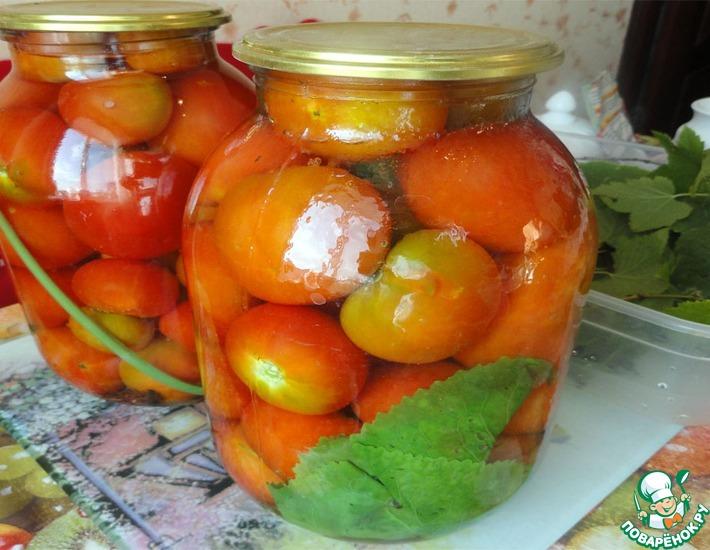 Рецепт: Заготовка консервированных помидоров на зиму
