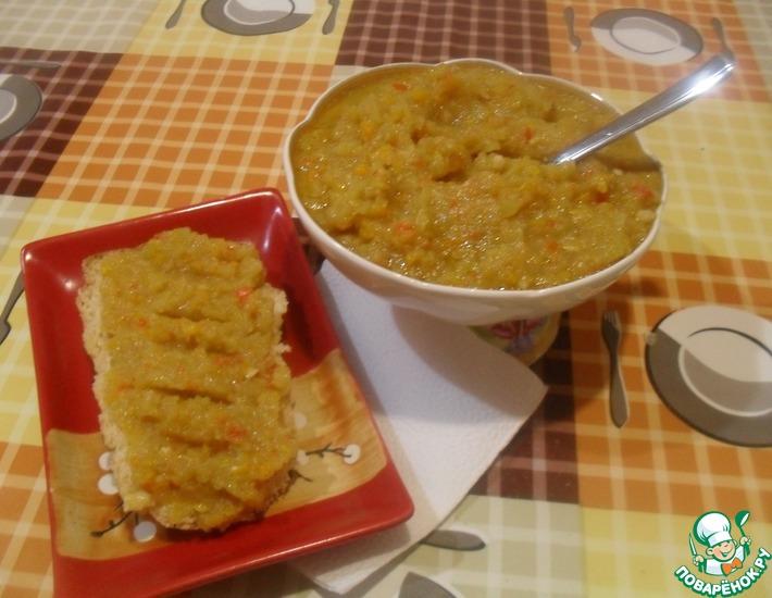 Рецепт: Аджика кабачково-яблочная Без томатов