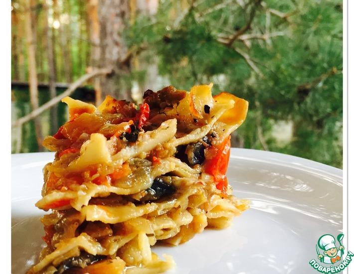 Рецепт: Постная лазанья с кальмарами