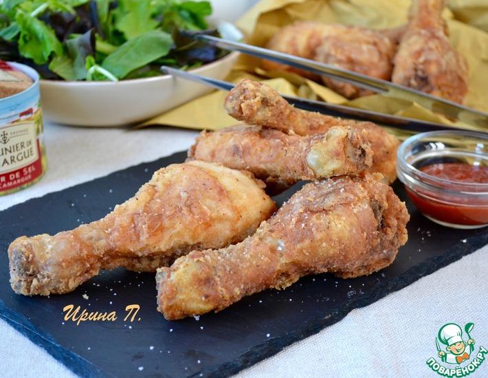 Рецепт: Жареные куриные голени