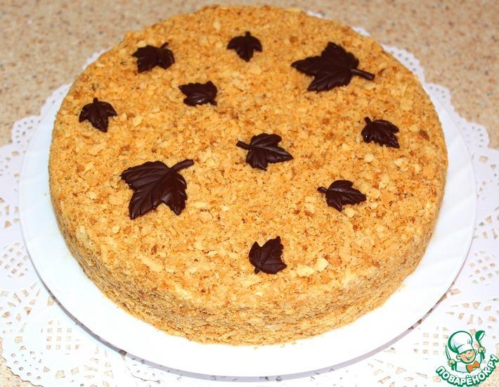 Рецепт: Торт Любимый Наполеон