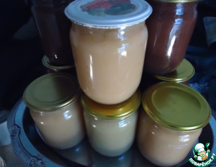 Рецепт: Грушевая сгущёнка молочная и шоколадная