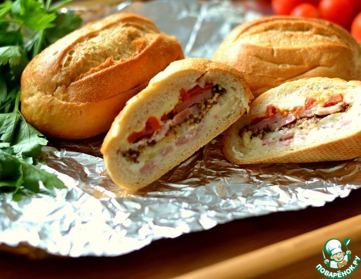 Рецепт: Бутерброды-булочки