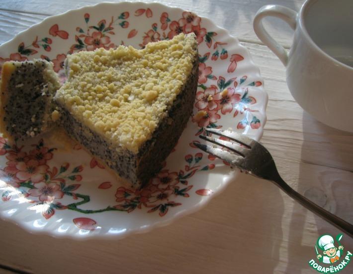 Рецепт: Творожный пирог с маком