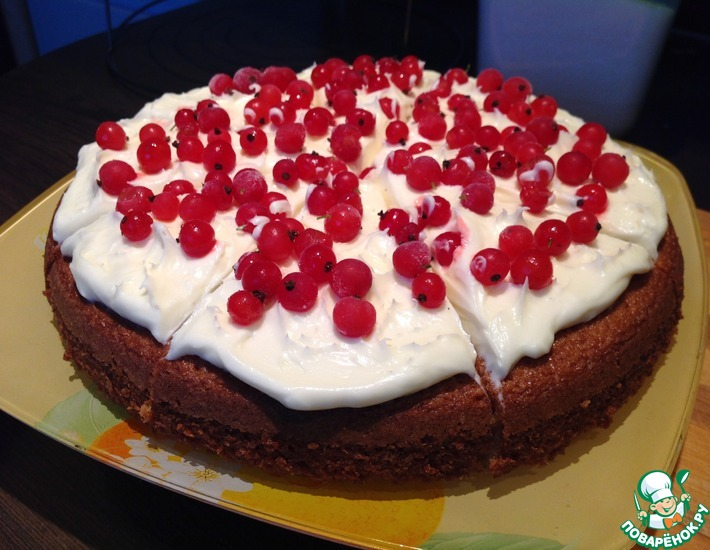 Рецепт: Деревенский торт с ягодами