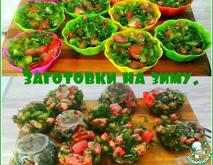 Рецепт: Заморозка овощей