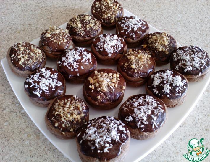 Рецепт: Шоколадное печенье со сливочным сыром