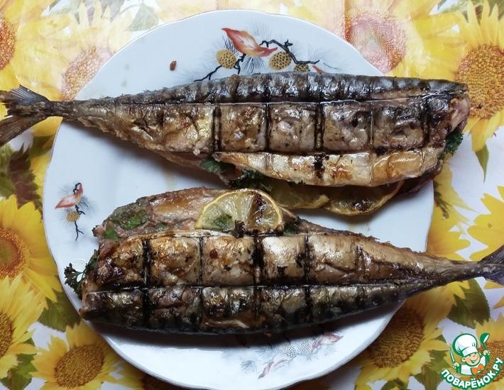 Рецепт: Скумбрия на мангале