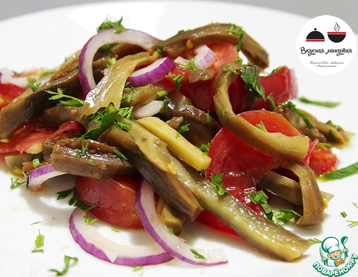 Рецепт: Салат с баклажанами на каждый день